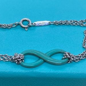 Tiffany & Co. Jewelry - Tiffany & Co. Enamel Infinity Bracelet 6.75""